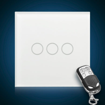 Сенсорный выключатель трехлинейный с радиоуправлением