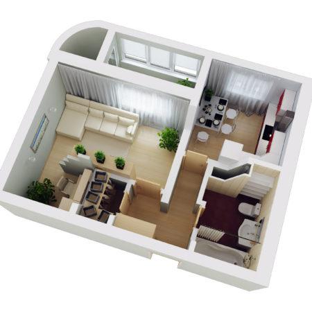 """Умный до"""" для 1-комнатной квартиры"""
