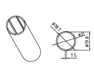 Алюминиевая труба для автоматизированных рулонных штор