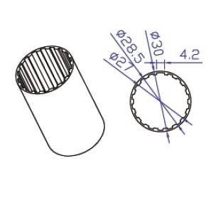 Труба для рулонной шторы