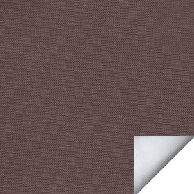 Ткань для рулонных штор АЛЬФА темно-коричневая