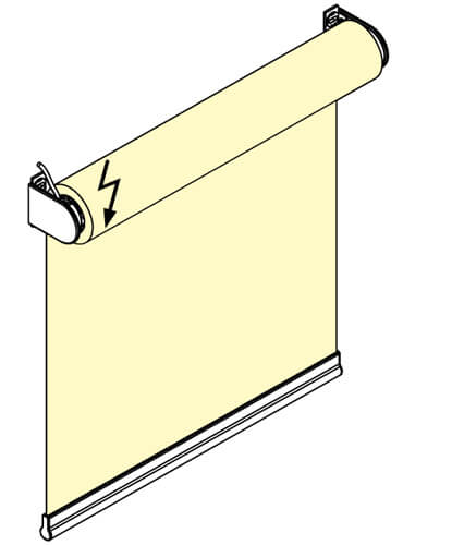 Рулонная штора с открытым валом