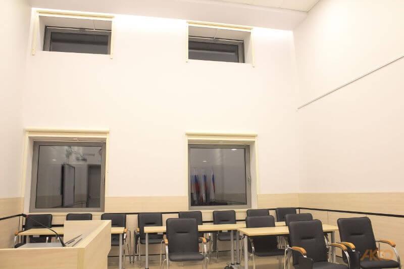 Рулонные шторы в музее