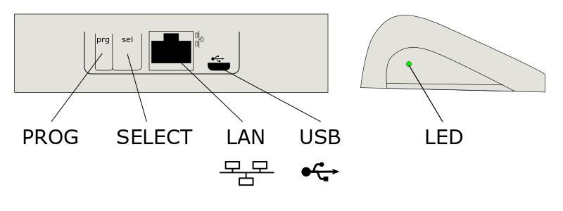 Контроллер Somfy Connexoon RTS вид сзади и сбоку