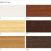 Ламели бамбук 50 мм, цвета