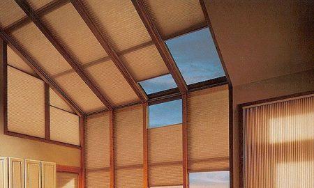 штора плиссе потолочная