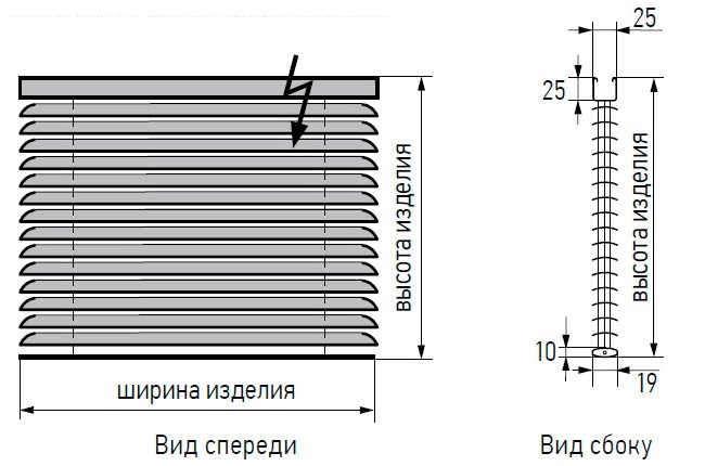 razmery gorizontalnyh zhalyuzi 25 mm alu_derevo_bambuk