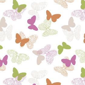 Бабочки розовый 200 см