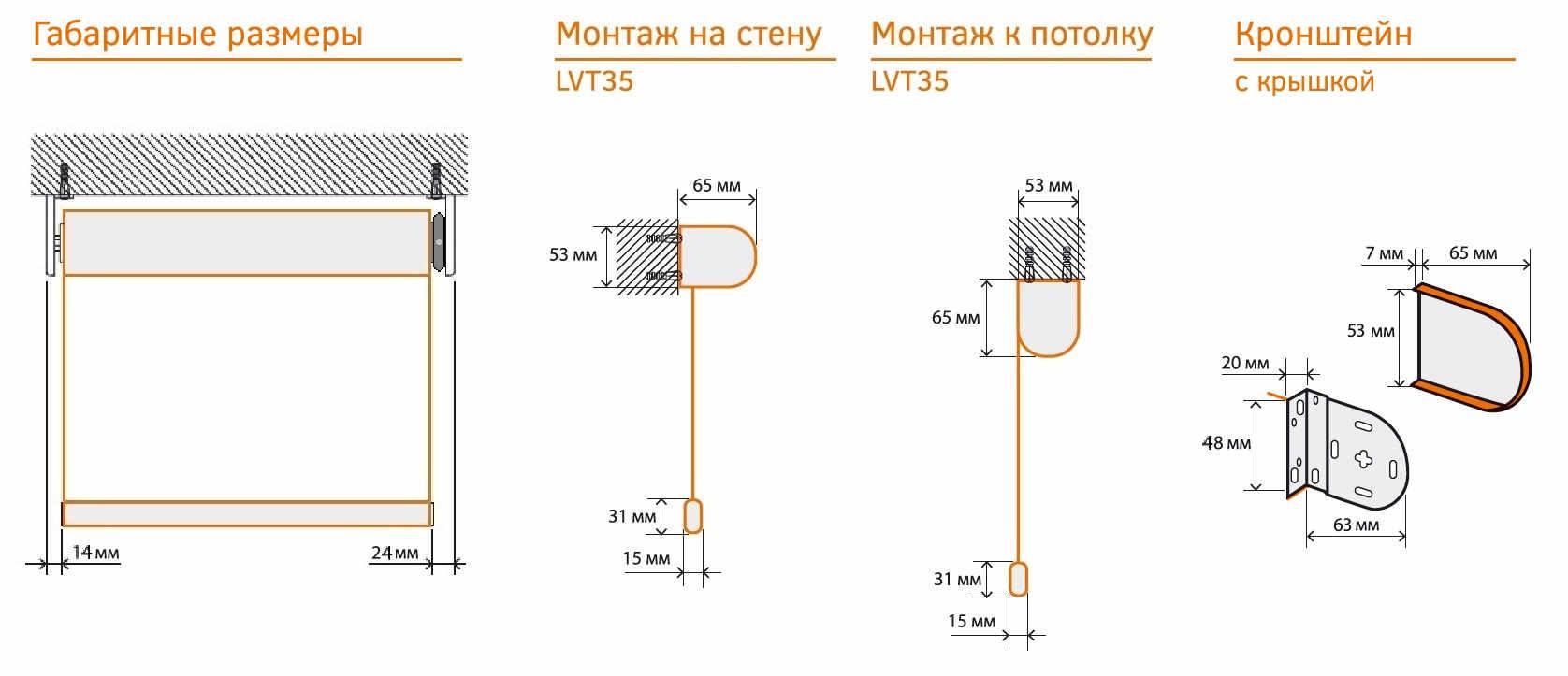 montazhnye rrazmery rulonnyh shtor AKKO LVT35
