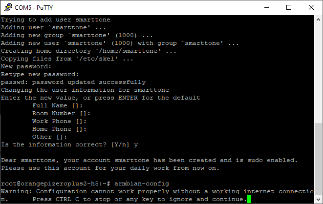 lalunch armbian config