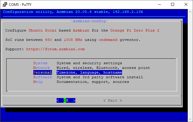 armbian-config personal